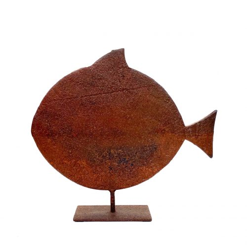 Rusted iron fish